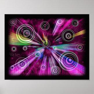Rosa und lila abstraktes poster