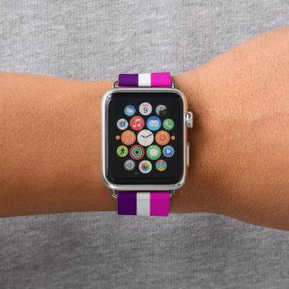 Rosa und Lila Apple Watch Armband