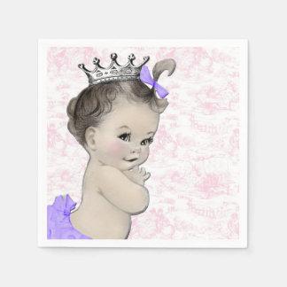 Rosa und lila Baby-Dusche Papierservietten