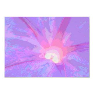 Rosa und lila Blumen-Blumenblatt-Einladungen 12,7 X 17,8 Cm Einladungskarte