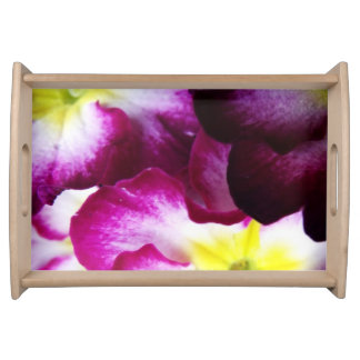 Rosa und lila Blumen-Entwurf Tablett