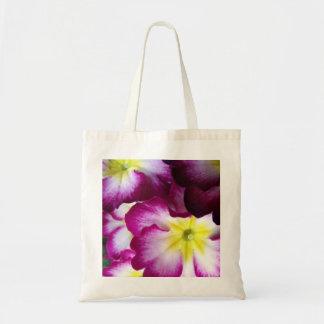 Rosa und lila Blumen-Entwurf Tragetasche