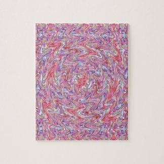 Rosa und lila gewirbeltes Steppdecken-Mosaik Puzzle