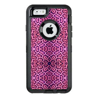 Rosa und lila Jaguar-Pelz OtterBox iPhone 6/6s Hülle