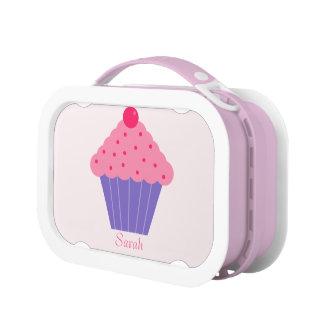 Rosa und lila kleiner Kuchen Brotdose