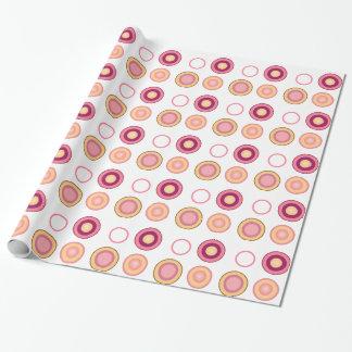 Rosa und lila Kreisentwurfs-Geschenkverpackung Geschenkpapier