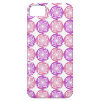 Rosa und lila Kreismuster iPhone 5 Cover