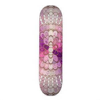Rosa und lila Mandala-Blume 21,6 Cm Skateboard Deck
