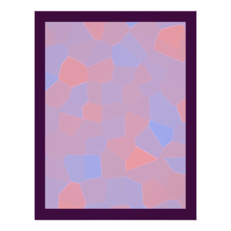 Rosa und lila Mosaik abstrakt Flyer