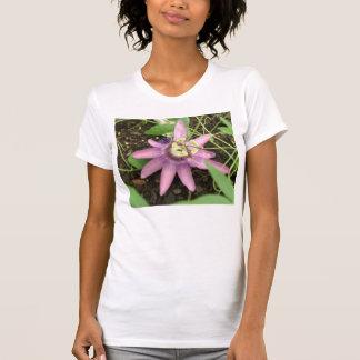 Rosa und lila Passionflower-Damen-T-Shirt T-Shirt
