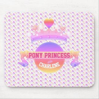Rosa und lila Pony-Prinzessin Mousepad
