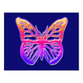 Rosa und lila Schmetterling 10,8 X 14 Cm Einladungskarte