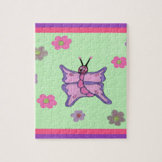 Rosa und lila Schmetterling Puzzle