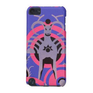 Rosa und lila Vintages Kunst-Deko-Tier iPod Touch 5G Hülle