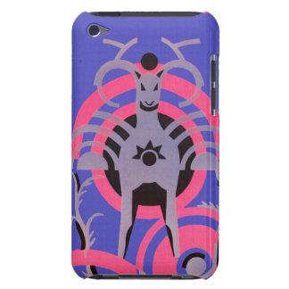 Rosa und lila Vintages Kunst-Deko-Tier iPod Case-Mate Hüllen