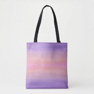 Rosa und lila Watercolor-Tasche Tasche