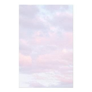 Rosa und lila Wolken Briefpapier