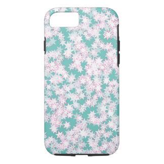 Rosa-und Minzen-Grün-Sterne iPhone 8/7 Hülle