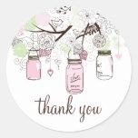 Rosa-und Minzen-grüne Weckgläser danken Ihnen Aufk