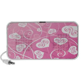 Rosa und niedlicher Gekritzel-Lautsprecher PC Lautsprecher