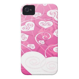 Rosa und niedlicher Herz-BlackBerry-Kasten Case-Mate iPhone 4 Hülle