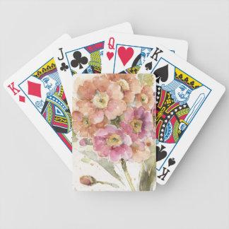Rosa und orange Primel Bicycle Spielkarten