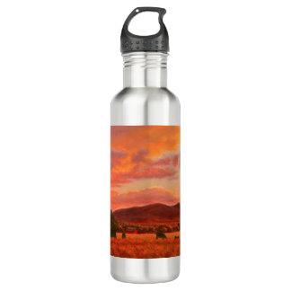 Rosa und orange Sonnenuntergang-Wasser-Flasche Edelstahlflasche