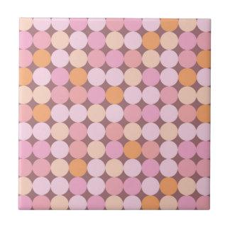 Rosa und orange Tupfen Kleine Quadratische Fliese