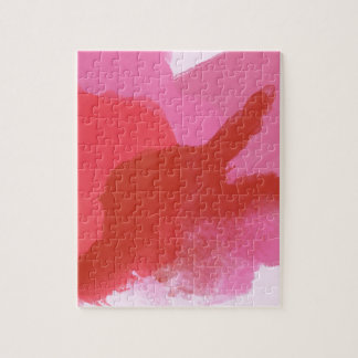Rosa und rote Wasserfarbe Puzzle