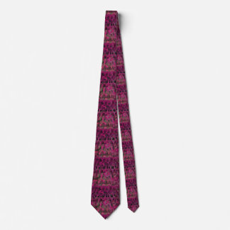 Rosa-und Schwarz-geometrische Krawatte