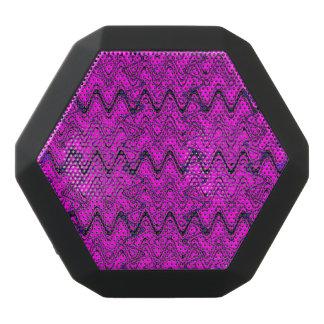 Rosa-und Schwarz-geometrisches Wellen-Muster Schwarze Bluetooth Lautsprecher