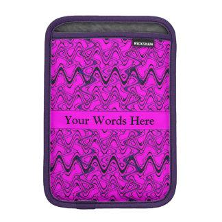 Rosa-und Schwarz-geometrisches Wellen-Muster Sleeve Für iPad Mini
