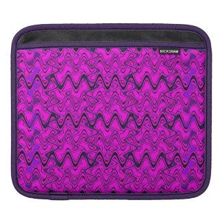 Rosa-und Schwarz-geometrisches Wellen-Muster Sleeve Für iPads