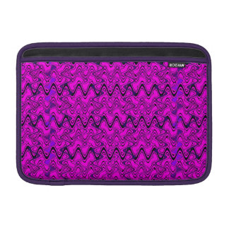 Rosa-und Schwarz-geometrisches Wellen-Muster Sleeve Fürs MacBook Air