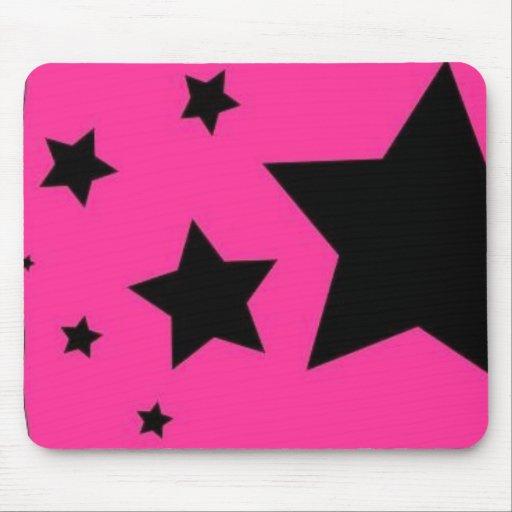 Rosa-und Schwarz-Stern Mousepad