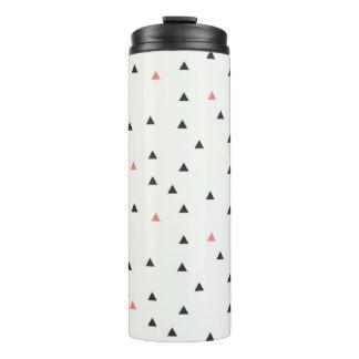 Rosa und schwarze Dreieck-Wasser-Flasche Thermosbecher
