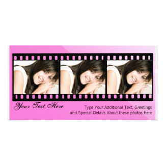 Rosa und schwarze Filmstrip Foto-Karte Fotokarten