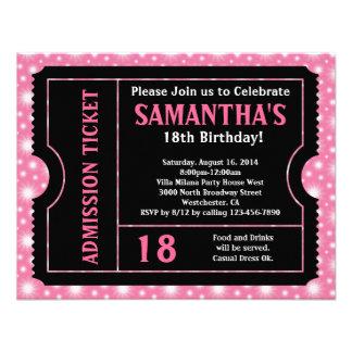 Rosa und schwarze Karten-Einladung irgendein