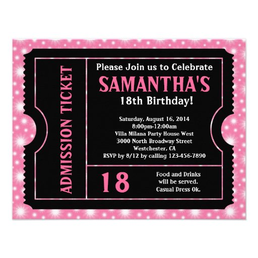 Rosa und schwarze Karten-Einladung, irgendein