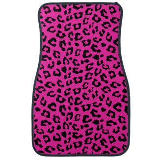Rosa und schwarze Leopard-Druck-Stellen Auto Fussmatte