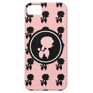 Rosa und schwarze Pudel iPhone 5 Etuis