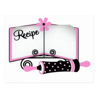 Rosa und schwarze Rezept-Karte