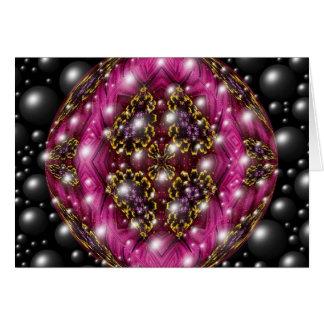 Rosa und schwarzer Blasen-Entwurf Grußkarte