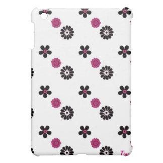 Rosa und schwarzer Blume iPad Kasten iPad Mini Hülle