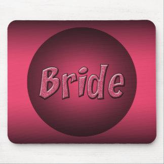 Rosa und schwarzer Braut-Entwurf Mousepads