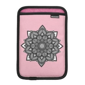 Rosa und schwarzer Mandalas iPad Kasten Sleeve Für iPad Mini