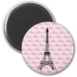 Rosa und schwarzer Paris-Eiffelturm Kühlschrankmagnet