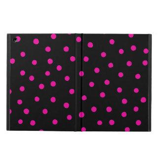 Rosa und schwarzes Confetti-Punkt-Muster