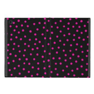 Rosa und schwarzes Confetti-Punkt-Muster Hülle Fürs iPad Mini