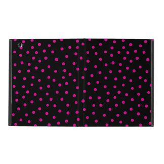 Rosa und schwarzes Confetti-Punkt-Muster Schutzhülle Fürs iPad